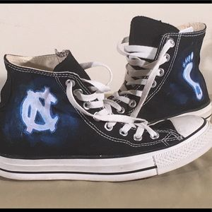 UNC Tarheel themed Converse
